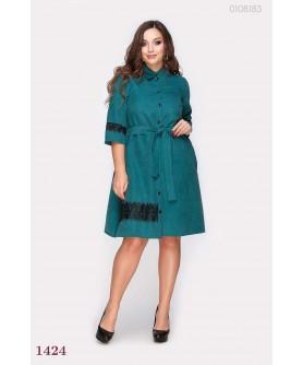 Платье Перудта (изумрудный) 0108183