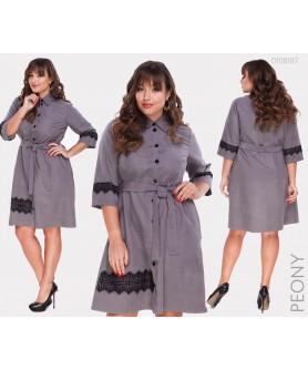 Платье Перудта (серый ) 0108187