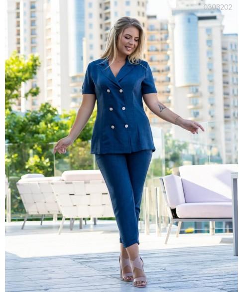 Женский костюм Хилтон (синий) 0303202