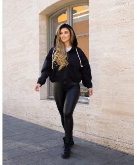 Женская куртка Ветровка №1 (чёрный) 0309211