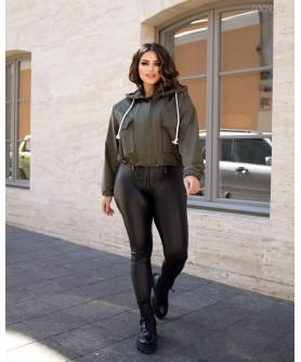 Женская куртка Ветровка №1 (хаки) 0309212