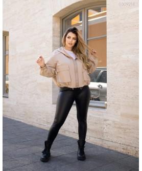 Женская куртка Ветровка №1 (бежевый) 0309214