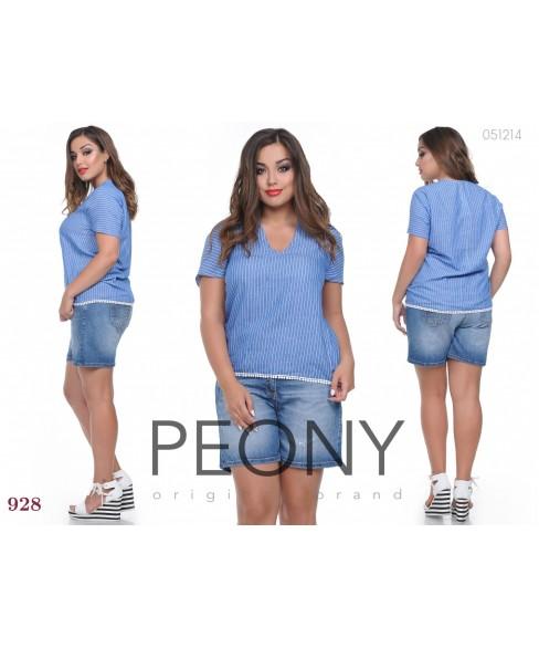 Блузка Муреа (синий) 0605172