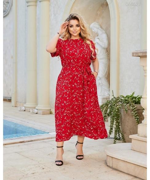Платье Мадрид (красный) 0605211
