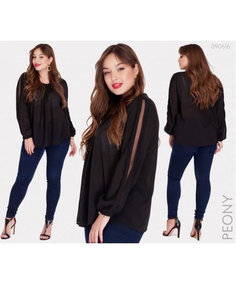 Блузка Парма (черный) 090616