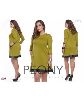 Платье Огайо (оливковый) 101015