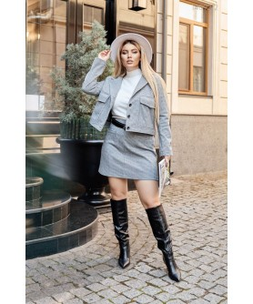 Женский костюм Элизе (серый) 1409212