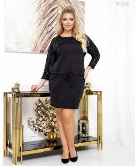 Платье Брюне (чёрный) 1511202