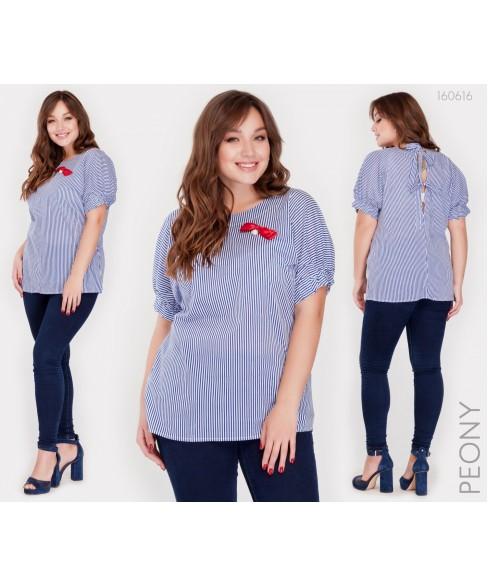 Блузка Реус (полоска синяя) 160616