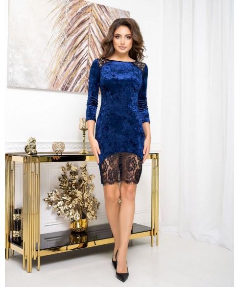 Платье 1516 (синий) 1516-синий