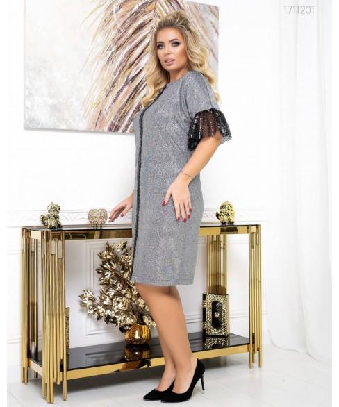 Платье Вена (графит) 1711201