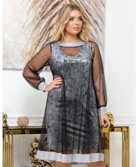 Платье 2039 (серый) 2039-серый