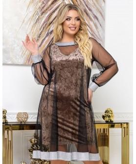 Платье 2039 (мокко) 2039-мокко