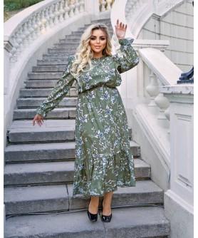 Платье Салоу (оливковый) 2708212