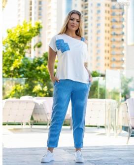Женский костюм Пирей (голубой) 2905201