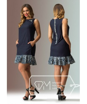 Платье Гаванна (тёмно-синий)