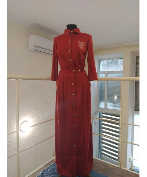 Платье Монмартр (кирпичный) 140815